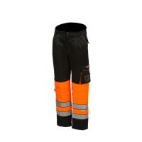 Huomioväriset talvivyötäröhousut oranssi/musta EN 20471 Lk.1 - 4055