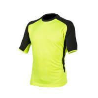 Huomiovärinen t-paita kelta/musta - 4085
