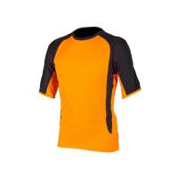 Huomiovärinen t-paita oranssi/musta - 4086