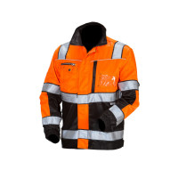 Huomiovärinen pusero oranssi/musta EN 20471 Lk.2 - 4124
