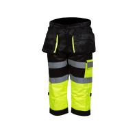 Huomioväriset capri-housut kelta/musta EN 20471 Lk.1 - 4328
