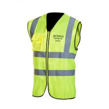 Virallinen Järjestysmiesliivi keltainen EN 20471 Lk.2 - 4018