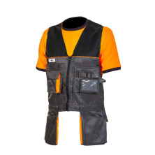 Priha riipputaskuliivi / työkaluliivi harmaa/musta - 4050