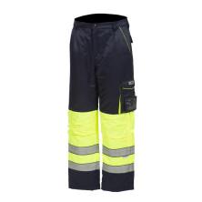 Huomioväriset talvivyötäröhousut sini/keltainen EN 20471 Lk.1 - 4053