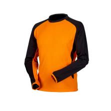 Huomiovärinen pitkähihainen t-paita oranssi/musta - 4089