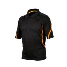 Tekninen pikee paita musta/oranssi - 4096