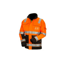 Huomiovärinen talvipusero oranssi/musta EN 20471 Lk.2 - 4122