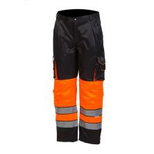 Huomioväriset vyötäröhousut oranssi/musta EN 20471 Lk.1 - 4125
