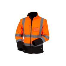 Huomiovärinen Softshell pusero oranssi/musta EN 20471 Lk.2 - 4137