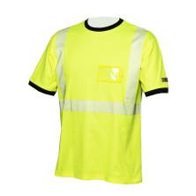 Hi-Vis keltainen puuvillainen katkoprintti huomiopaita EN 20471 Lk.2 - 4360