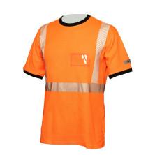 Hi-Vis oranssi puuvillainen katkoprintti huomiopaita EN 20471 Lk.2 - 4361