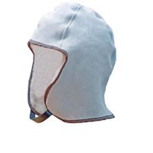 Nahkainen kotimainen kypäränalus huppu vaalea - 4704